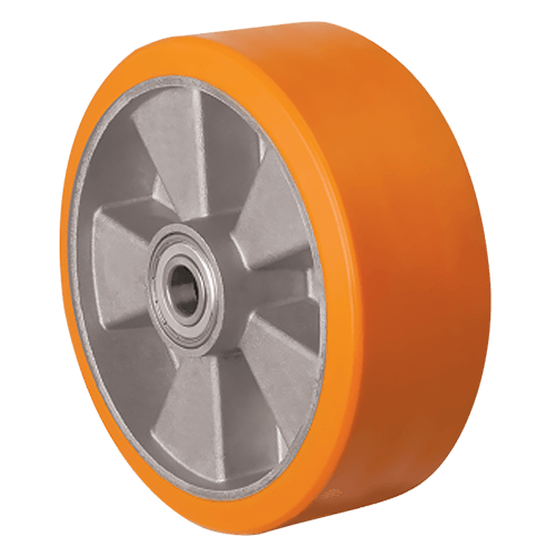 Большегрузное полиуретановое колесо на ось ABP 100