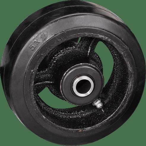 Большегрузное обрезиненное колесо на ось D 63