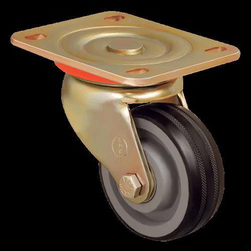 Большегрузное обрезиненное поворотное колесо ED01 VBR 125