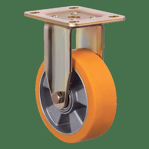 Большегрузное полиуретановое неповоротное колесо ED02 ABP 200