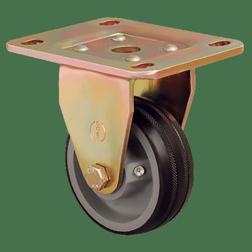 Большегрузное обрезиненное неповоротное колесо ED02 VBR 125