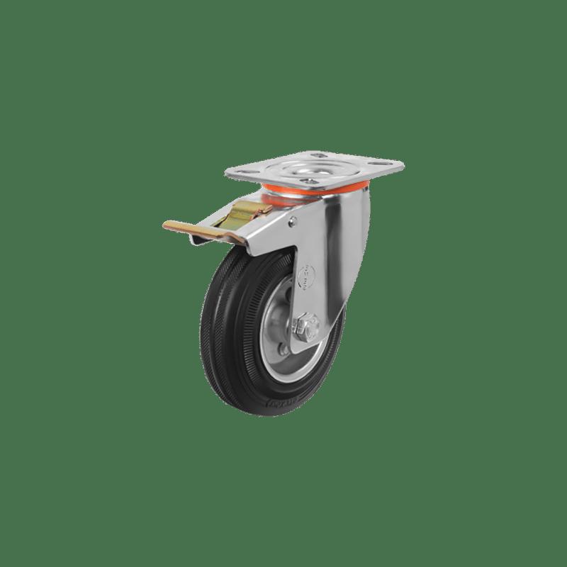 Промышленное поворотное колесо с тормозом EM01 SPR 80F