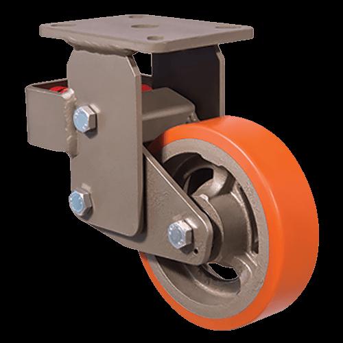 Большегрузное полиуретановое неповоротное колесо EVY02 VBP 200