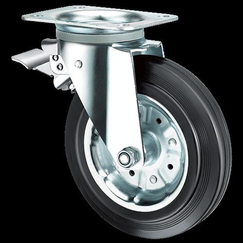 Промышленное поворотное колесо с тормозом SRCb 63