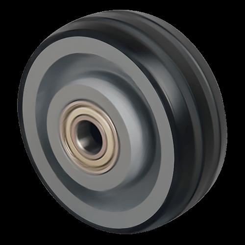 Большегрузное обрезиненное колесо на ось VBR 100