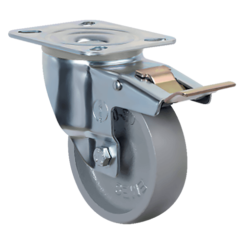 Термостойкое поворотное колесо с тормозом EM01 VKV 80F