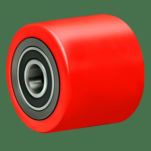 Полиуретановый ролик с подшипником п/у 80×70 A