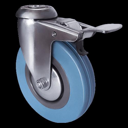 Аппаратное поворотное колесо под болт с тормозом SChgb 25